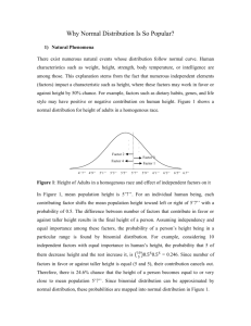 Why Normal Distribution Is So Popular?