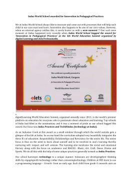 Indus World School awarded for Innovation in Pedagogical Practices