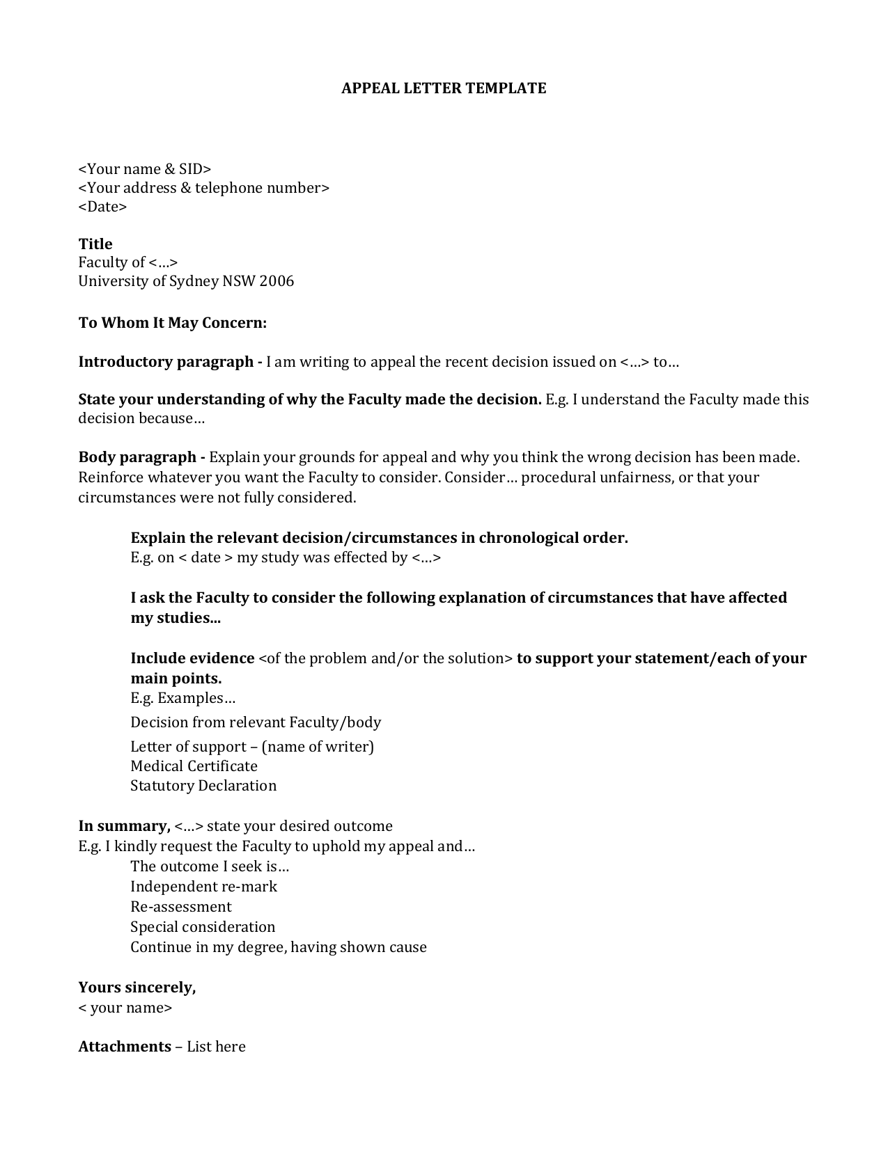 Click here to an appeal letter template word doc altavistaventures Gallery