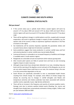 CLIMATE CHANGE AND SOUTH AFRICA