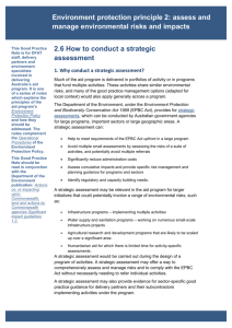 Environment protection principle 2: assess and manage