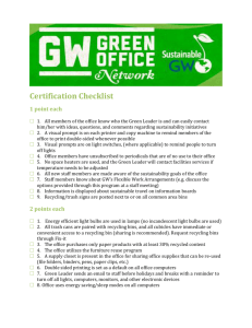 GOC 1.0 - Sustainability at GW