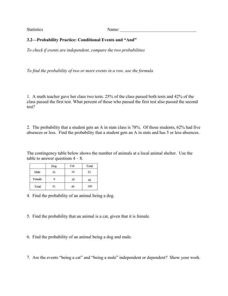 Worksheet Dependent Probability Worksheet Worksheet Fun Worksheet