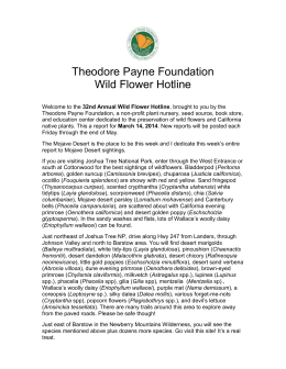March 14, 2014 – Word Doc - Theodore Payne Foundation