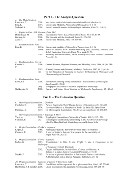 Syllabus & Preliminary Reading List