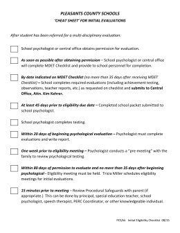 Checklist for Initial Evaluations NEW 08/15