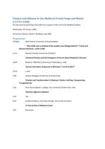 Workshop programme - Humanities