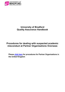 Academic Misconduct - University of Bradford
