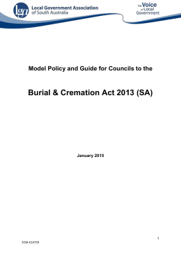 Burial & Cremation Act 2013 (SA) - Local Government Association of