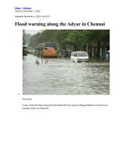 FLOOD WARNING IN CHENNAI DUE TO HEAVY RAINS 011215