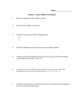 Honors Chem- Buffers Worksheet