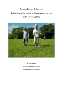 Broom Farm, Soberton Preliminary Report of a Geophysical survey