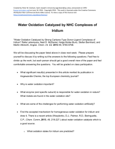Water Oxidation Catalyzed by NHC Complexes of Iridium
