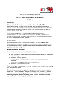 ACADEMIC CAREER DEVELOPMENT GROUP CAREER
