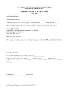 Field Instructor Agreement