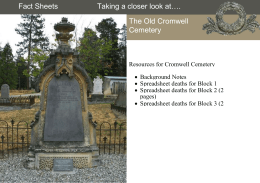 Cromwell cemetery - Historic Cemeteries Conservation Trust of