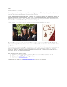 Information about purcashing cap/gown and graduation