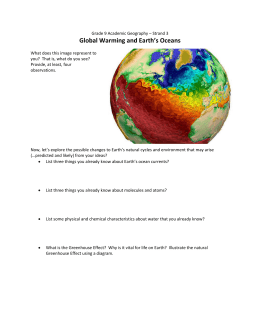 Lesson 14 - Global Warming and the Oceans