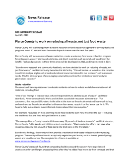 Pierce County to work on reducing all waste, not