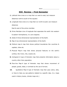 EOC Review – First Semester