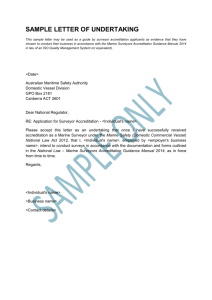 sample letter of undertaking - Australian Maritime Safety Authority