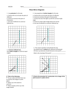 1_How to construct Plane Mirror Diagrams