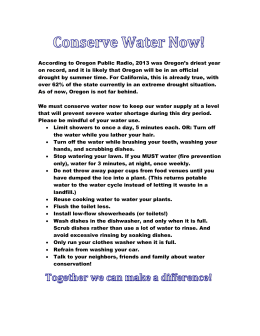 Conserve Water Now!
