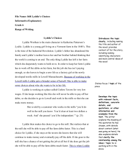An analysis of the book lyddie which was written by katherine paterson