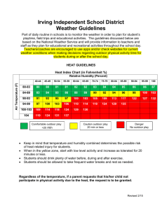 Irving Independent School District Weather Guidelines