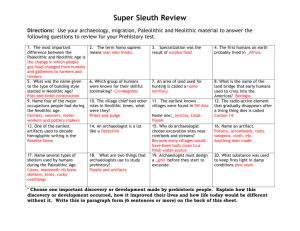 Super Sleuth Review-prehistory key