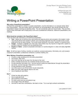 Writing a PowerPoint Presentation