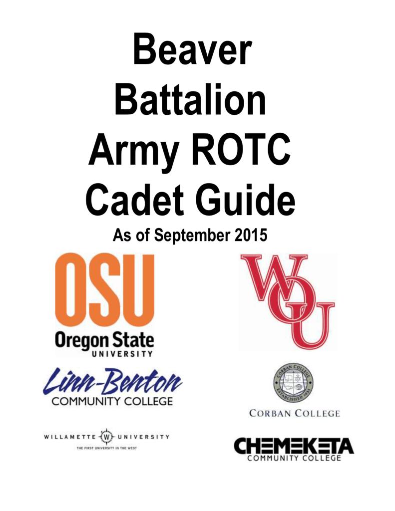 Beaver Battalion Army ROTC Cadet Guide