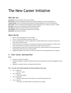 Carly Nelson: Executive Director of the Career Initiative