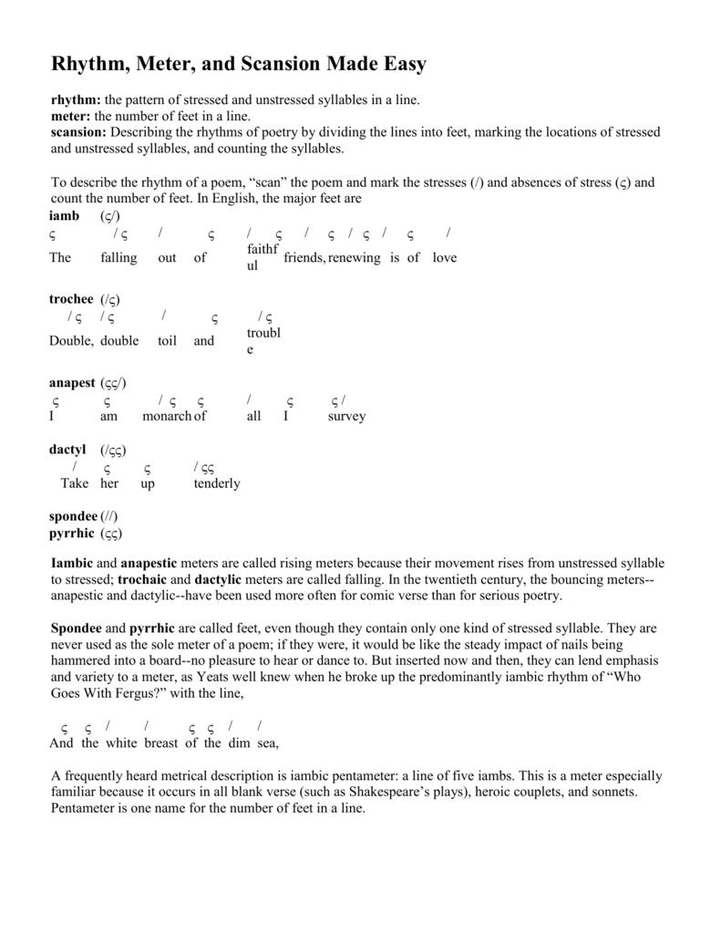 Dimensions in versification: iambic tetrameter