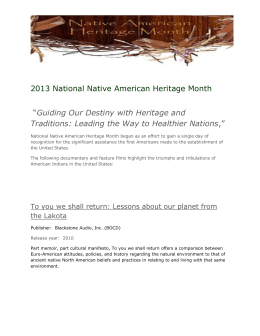 2013 National Native American Heritage Month