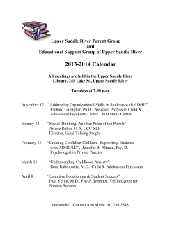 Upper Saddle River Parent Group and Educational Support Group