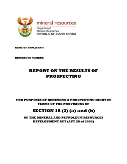 standard directive - Department of Mineral Resources