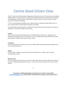 Canine Good Citizen Class - Brown Veterinary Service