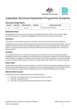 Caterpillar Structural Adjustment Programme