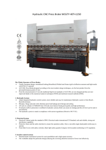 Hydraulic CNC Press Brake WC67Y-40T×1250 The Whole Structure