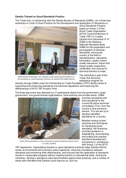 Zambia Trained on Good Standards Practice Referencing Standards