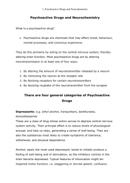 Psychoactive Drugs and Neurochemistry