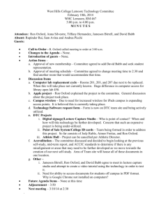 WHCL Technology Committee Minutes for 2-10-14