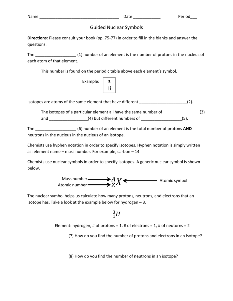 Guided Atomic Notation