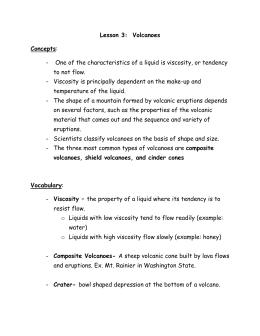 Volcano Explorer Worksheet