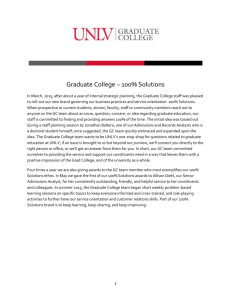 Graduate College ~ 100% Solutions In March, 2015, after about a