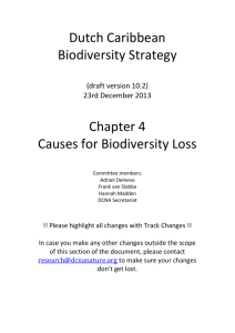 Chapter 4. Causes for Biodiversity Loss