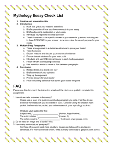 FAQ and Myth Essay Checklist