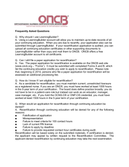 FAQs-090112 - Orthopaedic Nursing Certification Board