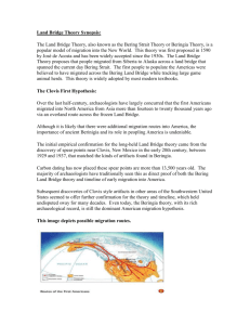 Land Bridge Theory Synopsis: The Land Bridge Theory, also known